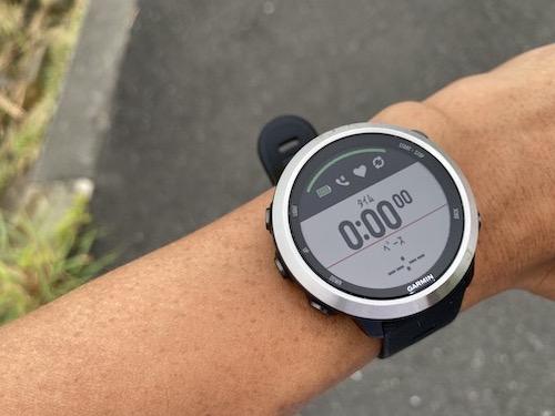 ランニング開始、GPSの補足精度とスピード